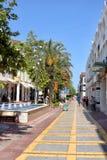 Calle peatonal de Kemer imagen de archivo libre de regalías
