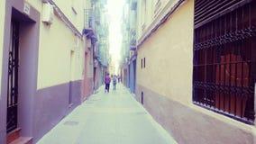 Calle peatonal estrecha Fotografía de archivo libre de regalías