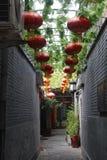 Calle peatonal Lyulichan en Pekín céntrica imágenes de archivo libres de regalías