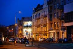 Calle por noche Imagen de archivo
