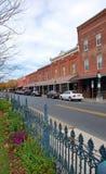 Calle principal 5 de la pequeña ciudad Imagenes de archivo