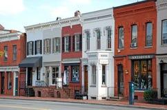 Calle principal 6 de la pequeña ciudad Foto de archivo
