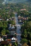 Calle principal de Luang Prabank, Laos fotografía de archivo