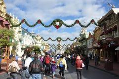 Calle principal del mundo de Walt Disney Fotos de archivo libres de regalías