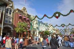 Calle principal del mundo de Walt Disney Imagen de archivo libre de regalías