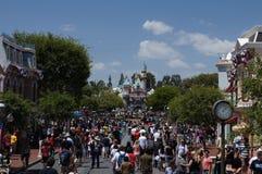 Calle principal Disneylandya Foto de archivo libre de regalías
