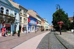 Calle principal en Kosice Fotografía de archivo