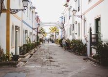 Calle principal en Mogan Gran Canaria Canary Islands España fotografía de archivo