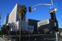 Calle principal L.A. Foto de archivo