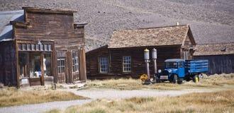 Calle principal reservada en un pueblo fantasma Fotografía de archivo libre de regalías