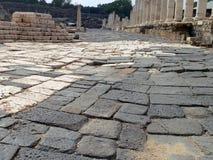 Calle principal romana Imagenes de archivo