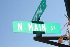 Calle principal Sign4 del St Imagen de archivo