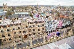 Calle principal y horizonte de Oxford Imagen de archivo libre de regalías