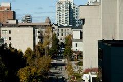 Calle privada de la universidad en la universidad de Ottawa - Canadá Imágenes de archivo libres de regalías