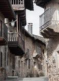 Calle Puebla de Sanabria, Zamora, España Imagenes de archivo