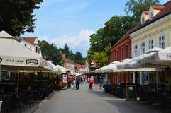 Calle que camina de Zagreb Imágenes de archivo libres de regalías
