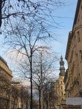 Calle que hace compras principal de Vienne imagen de archivo libre de regalías