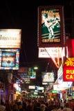 Calle que recorre de Pattaya Foto de archivo libre de regalías