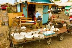Calle que vende st vincent céntrico Imagen de archivo