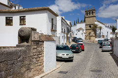 Calle Real in Ronda Royalty Free Stock Photography