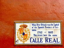 Calle Real. Rue Royale in New Stock Photography