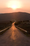 Calle recta larga Imagen de archivo