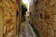 Calle romántica vieja Foto de archivo libre de regalías