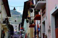 Calle Ronda Quito royaltyfri fotografi