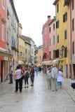 Calle Rovinj de Carera Imagen de archivo libre de regalías