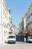 Calle Rue Leon Maitre en Nantes, Francia Imagen de archivo