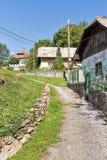 Calle rural en el balneario Sklene Teplice, Eslovaquia Fotos de archivo