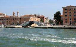 Calle San Biagio, Venezia Imagen de archivo libre de regalías