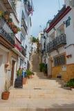 Calle San Rafael in Alicante lizenzfreie stockbilder