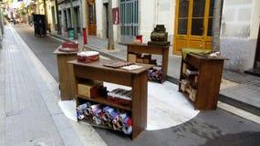 Calle 2017 Sants Барселоны фиест Sagunt стоковые фото