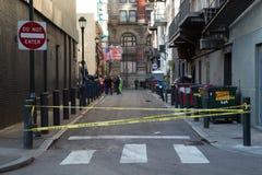 Calle secundaria cerrada de Philadelphia Fotografía de archivo libre de regalías