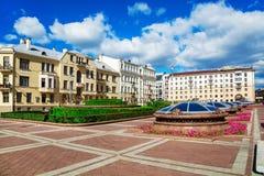 Calle Sovetskaya de Minsk imagenes de archivo