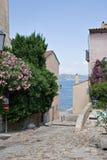 Calle St-Tropez Imágenes de archivo libres de regalías
