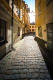 Calle stan de Gamla en Estocolmo, Suecia Imágenes de archivo libres de regalías