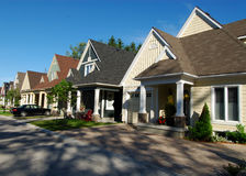Calle suburbana Fotografía de archivo libre de regalías