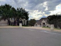Calle suburbana Foto de archivo
