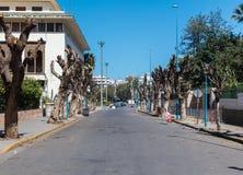 Calle sucia vacía Foto de archivo