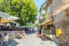 Calle típica de los adoquines en el santo Paul de Vence, Francia Imagen de archivo libre de regalías