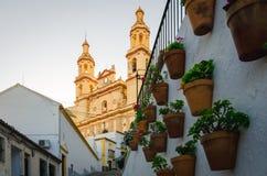 Calle típica de Olvera, diz del ¡de CÃ fotografía de archivo