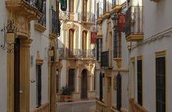 Calle Tenorio - Ronda royaltyfria foton