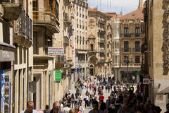 Calle Toro street in Salamanca, Spain Stock Photos