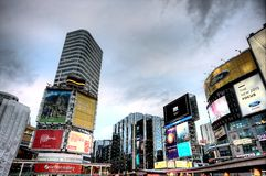 Calle Toronto de Yonge del cuadrado de Dundas foto de archivo