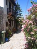 Calle tranquila de Chipre Fotografía de archivo libre de regalías