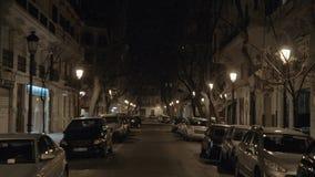 Calle tranquila en la noche Venecia, Italia metrajes