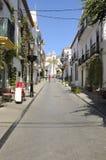 Calle turística foto de archivo libre de regalías