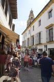 Calle turística en Córdoba imagen de archivo
